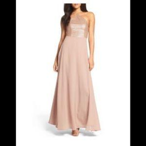 Gorgeous Blush Chiffon Gown